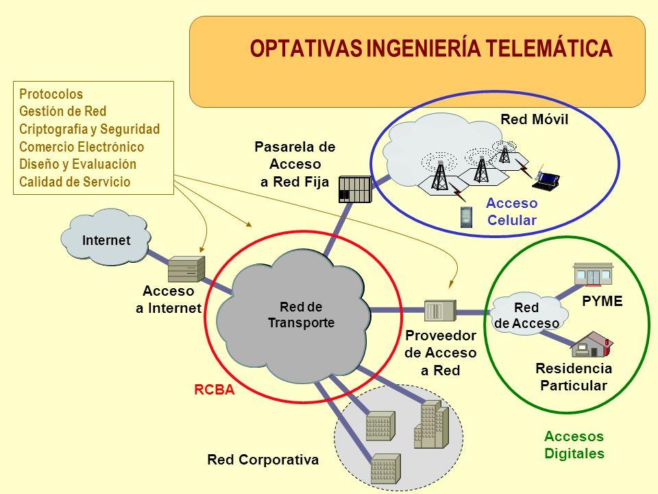 OPTATIVAS INGENIERÍA TELEMÁTICA