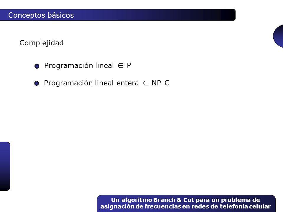 Programación lineal entera NP-C