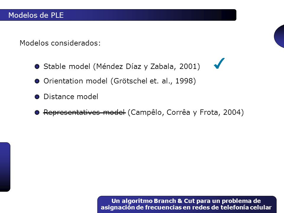 Modelos considerados: