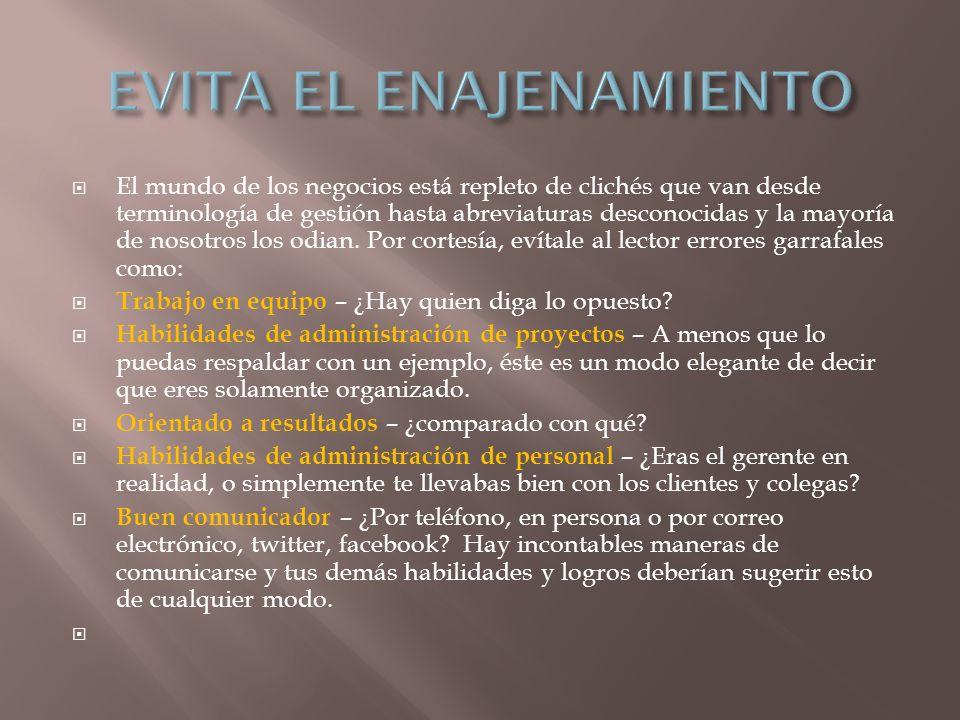 EVITA EL ENAJENAMIENTO