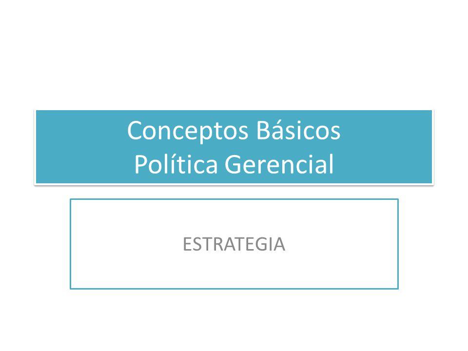 Conceptos Básicos Política Gerencial