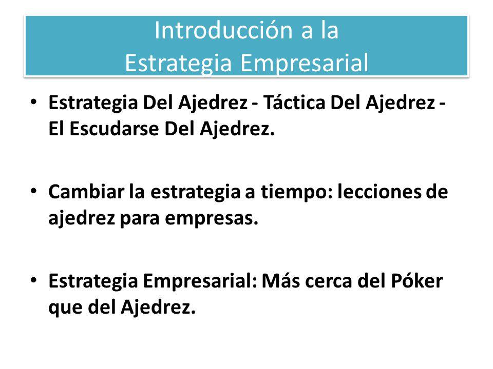 Introducción a la Estrategia Empresarial