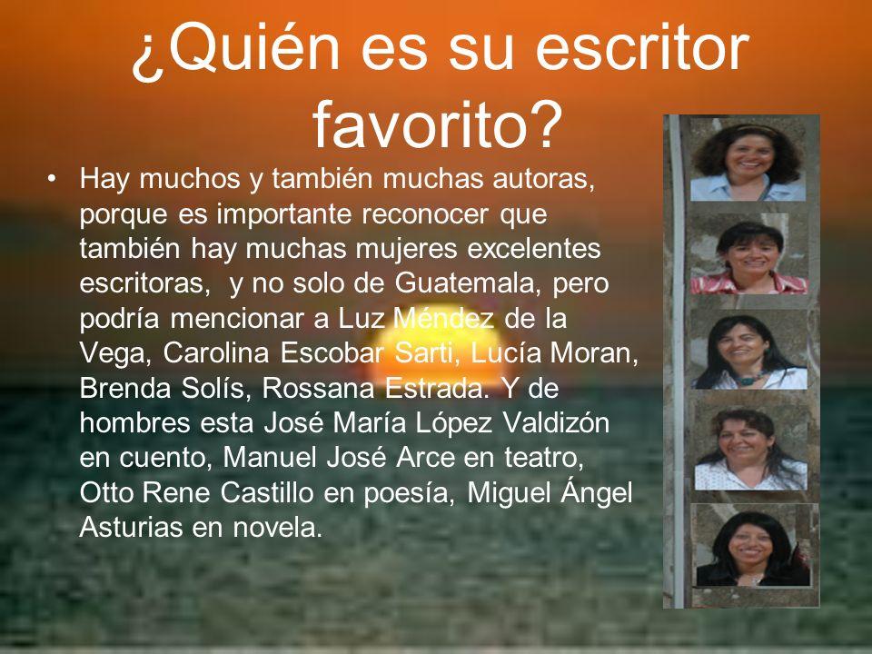 ¿Quién es su escritor favorito