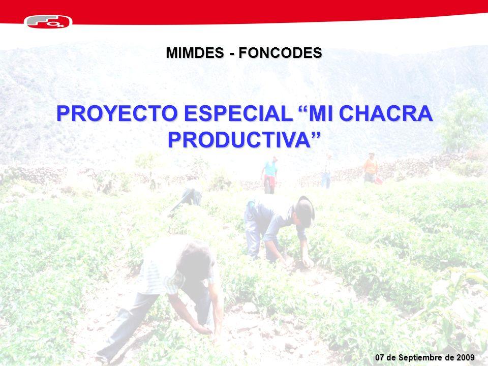 PROYECTO ESPECIAL MI CHACRA PRODUCTIVA