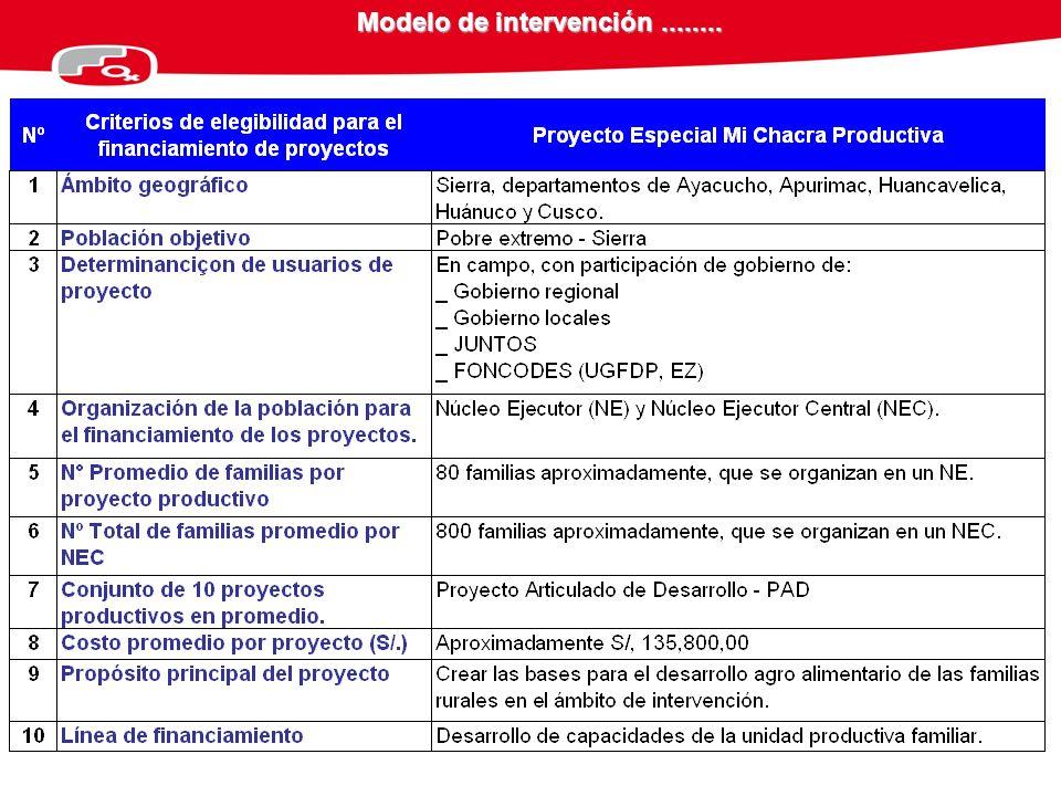 Modelo de intervención ........