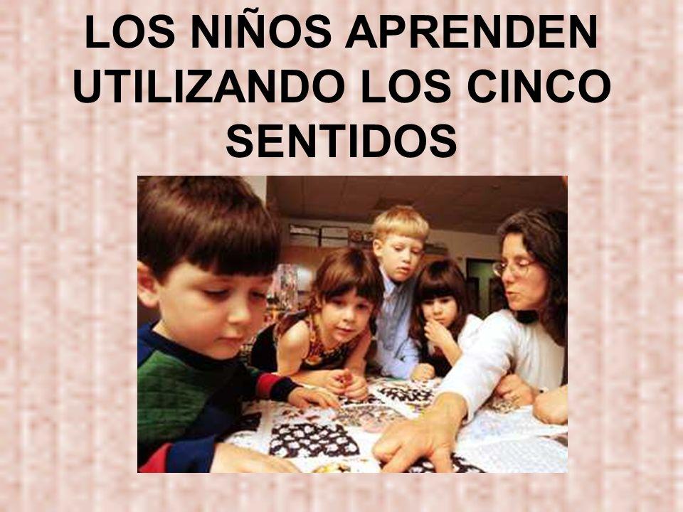 LOS NIÑOS APRENDEN UTILIZANDO LOS CINCO SENTIDOS