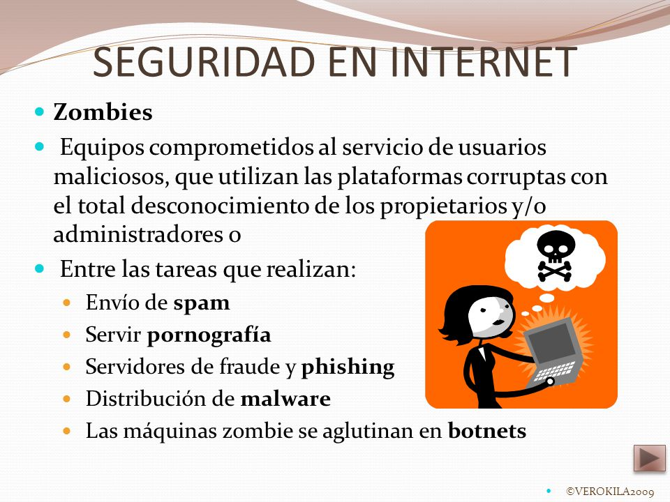 SEGURIDAD EN INTERNET Zombies