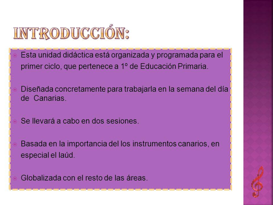 Introducción: Esta unidad didáctica está organizada y programada para el. primer ciclo, que pertenece a 1º de Educación Primaria.