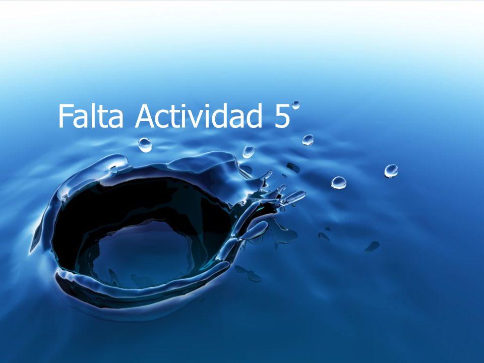 Falta Actividad 5