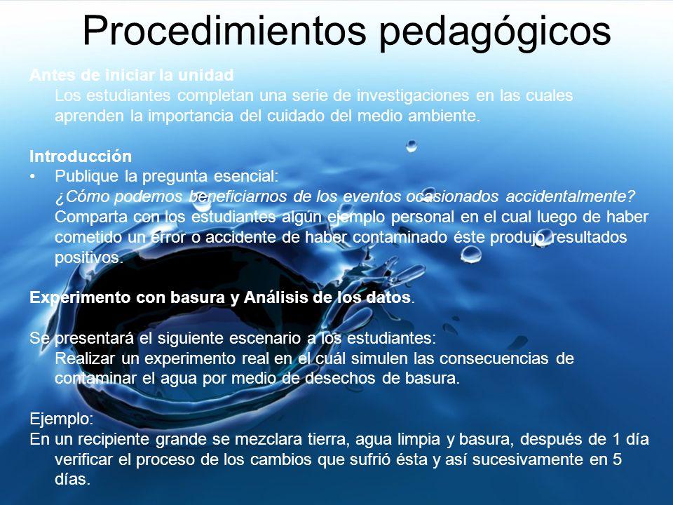 Procedimientos pedagógicos