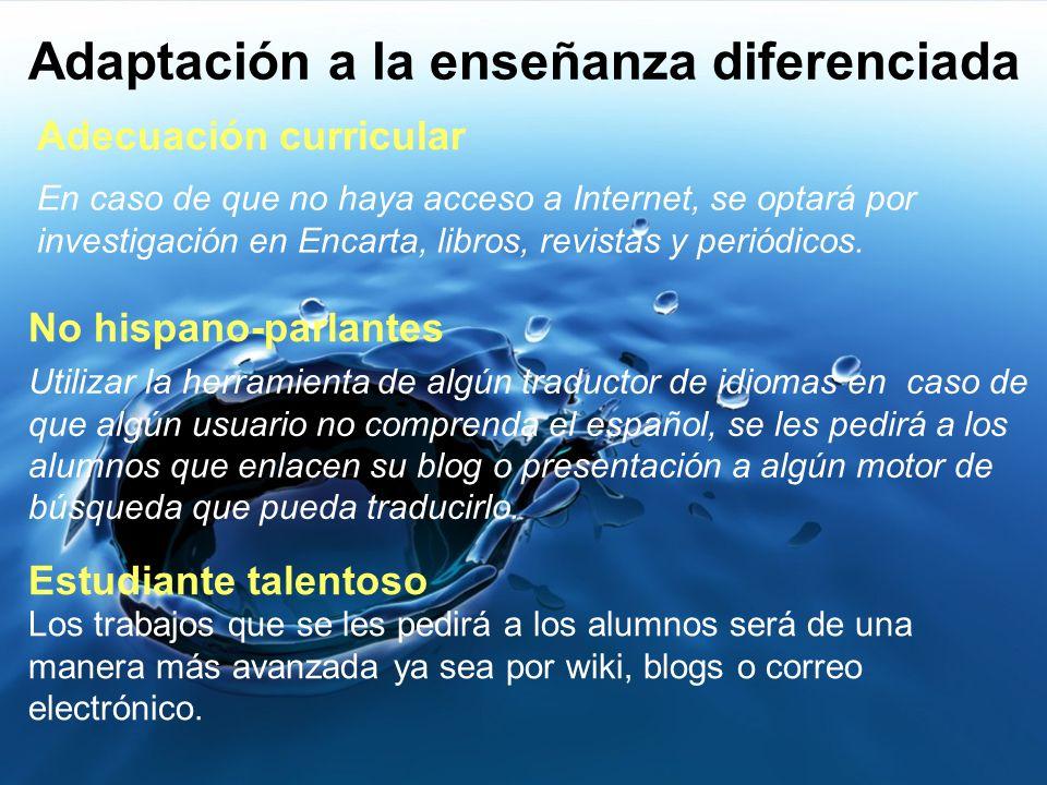 Adaptación a la enseñanza diferenciada