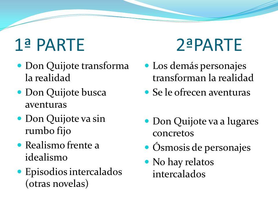 1ª PARTE 2ªPARTE Don Quijote transforma la realidad