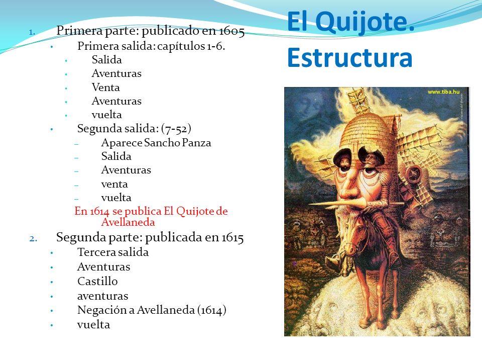 El Quijote. Estructura Primera parte: publicado en 1605