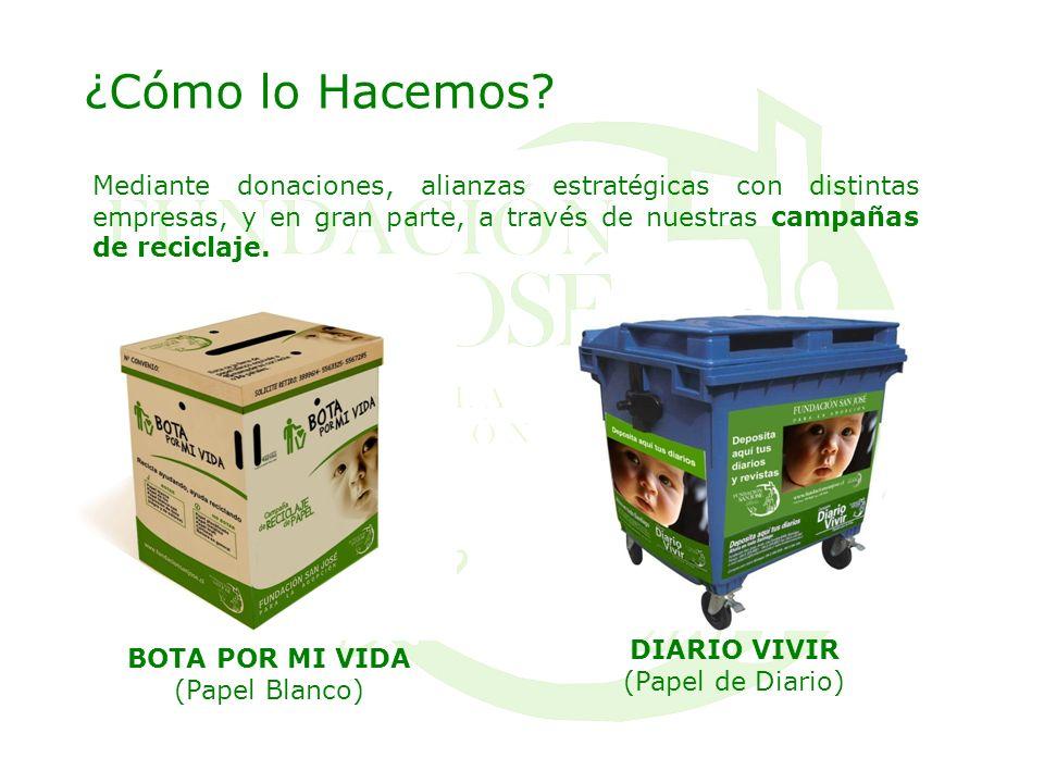 ¿Cómo lo Hacemos Mediante donaciones, alianzas estratégicas con distintas empresas, y en gran parte, a través de nuestras campañas de reciclaje.