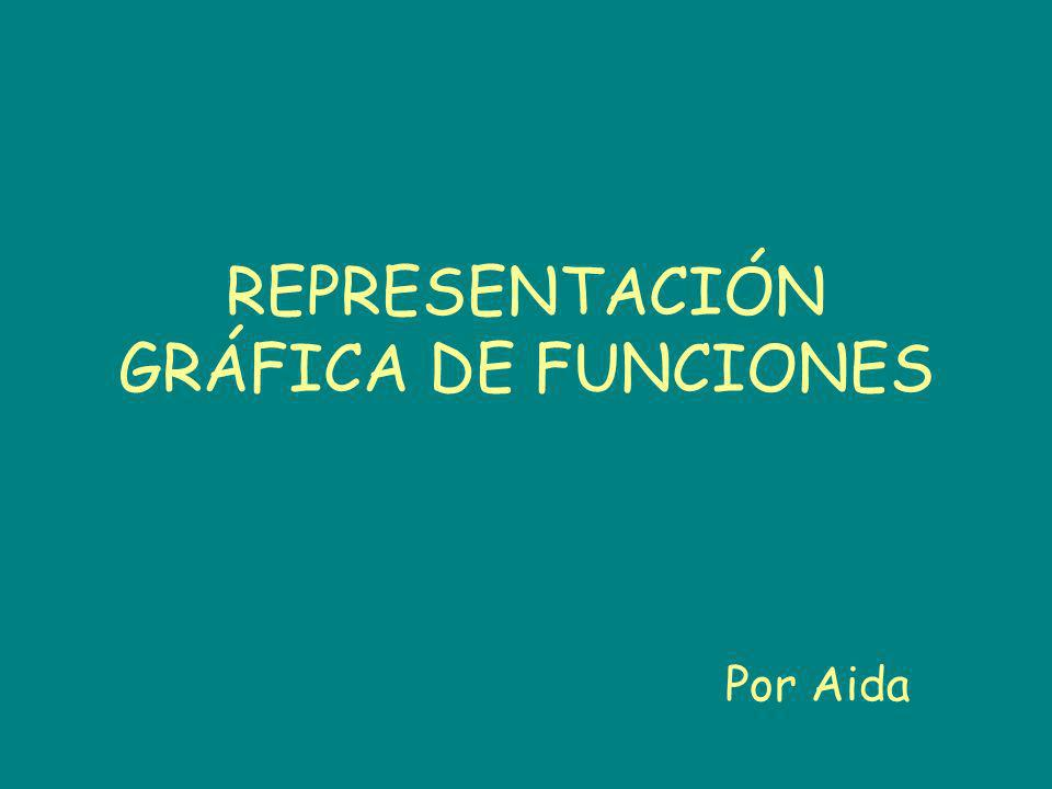 REPRESENTACIÓN GRÁFICA DE FUNCIONES