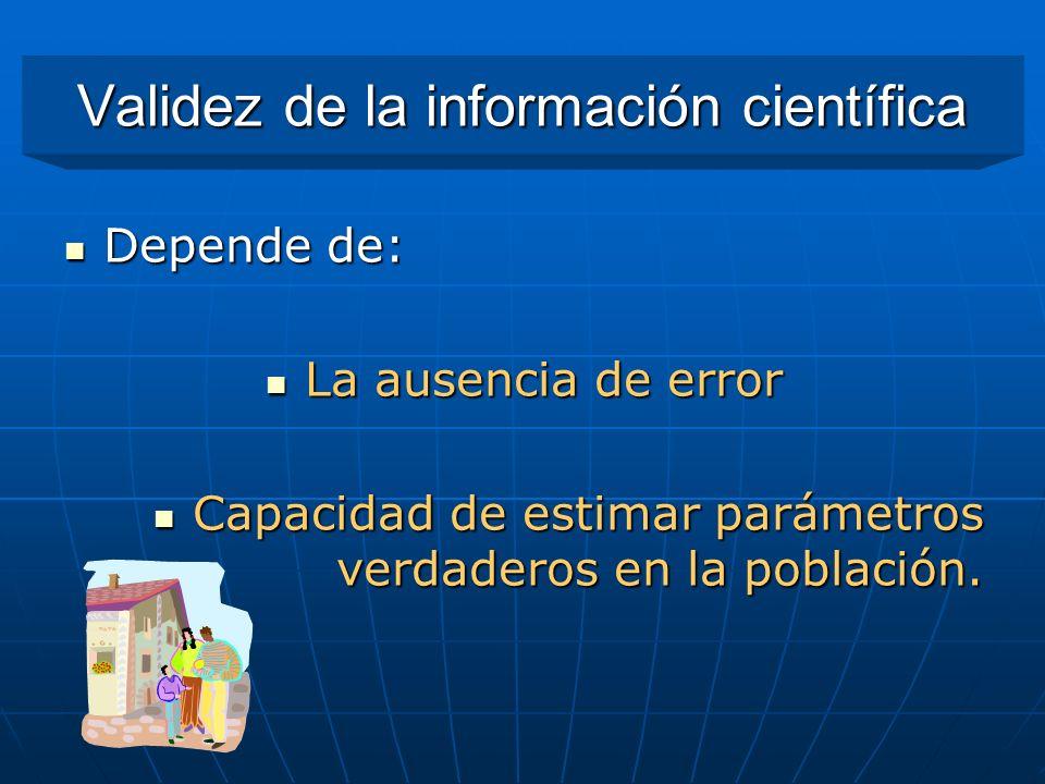 Validez de la información científica