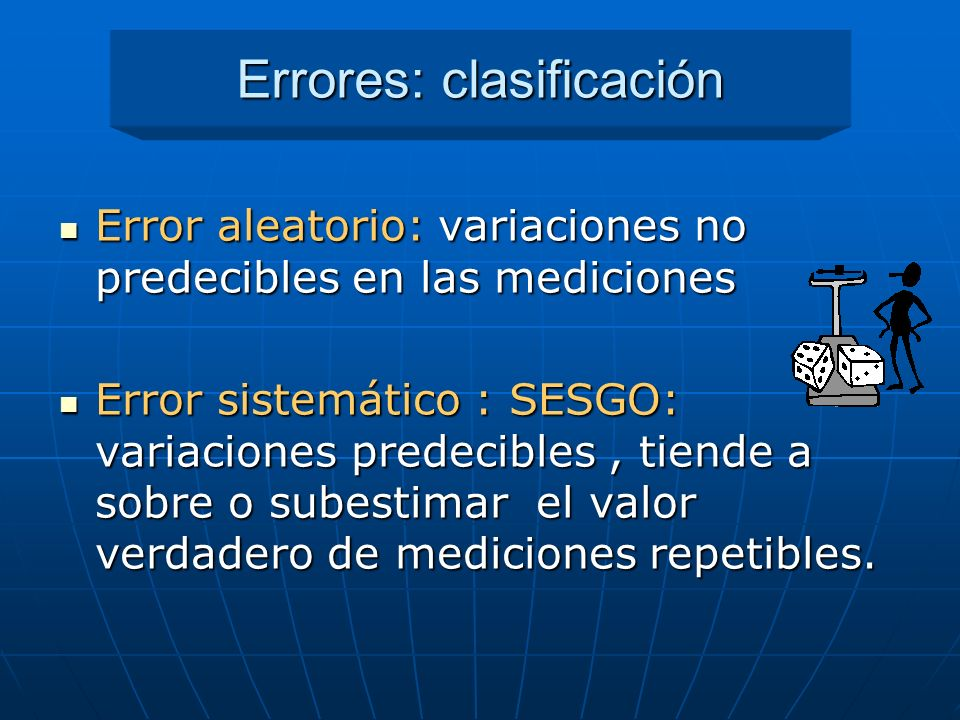 Errores: clasificación