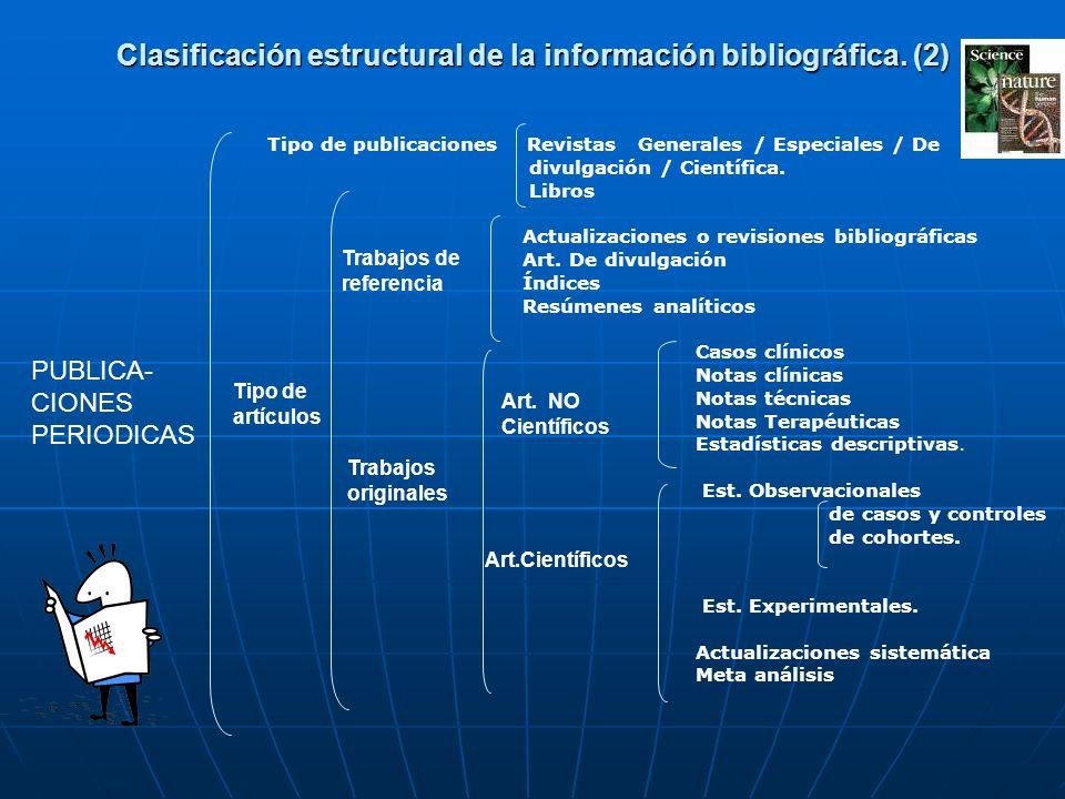 Clasificación estructural de la información bibliográfica. (2)