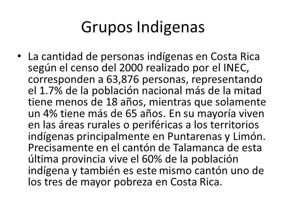 Grupos Indigenas