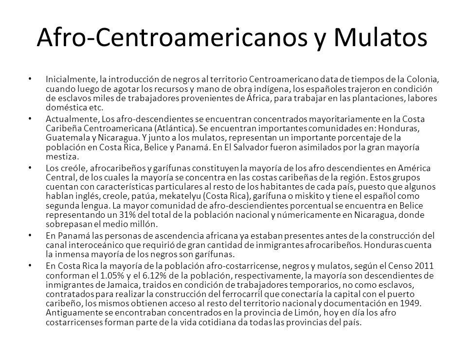 Afro-Centroamericanos y Mulatos