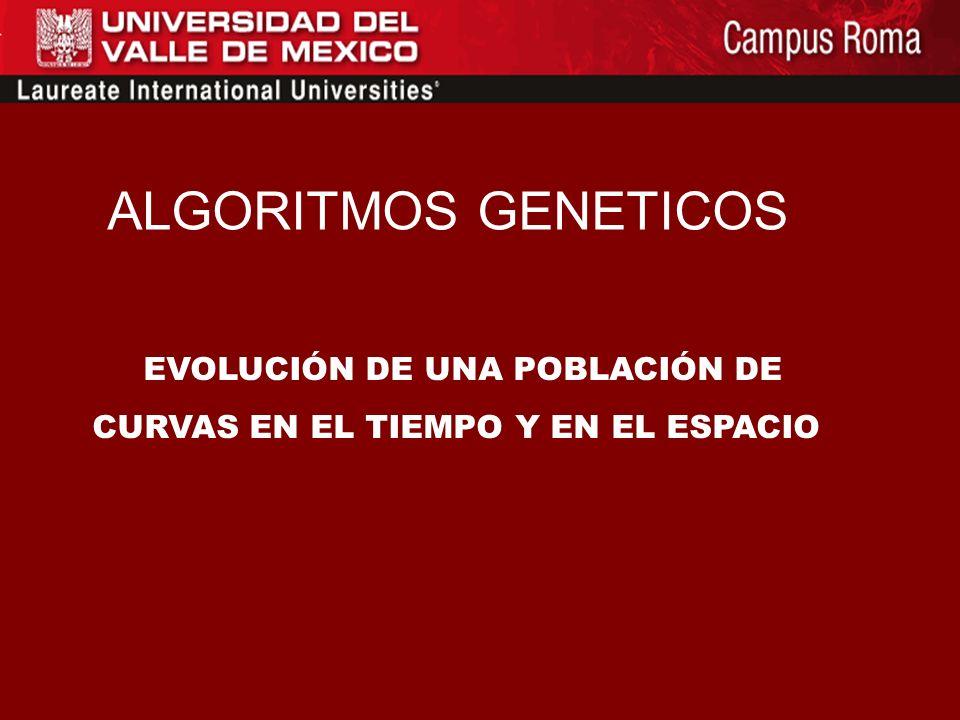 ALGORITMOS GENETICOS EVOLUCIÓN DE UNA POBLACIÓN DE