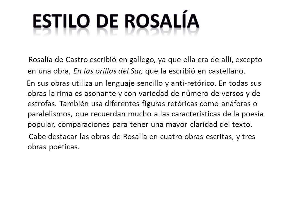 Estilo de Rosalía