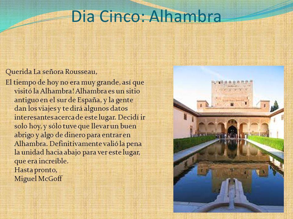 Dia Cinco: Alhambra