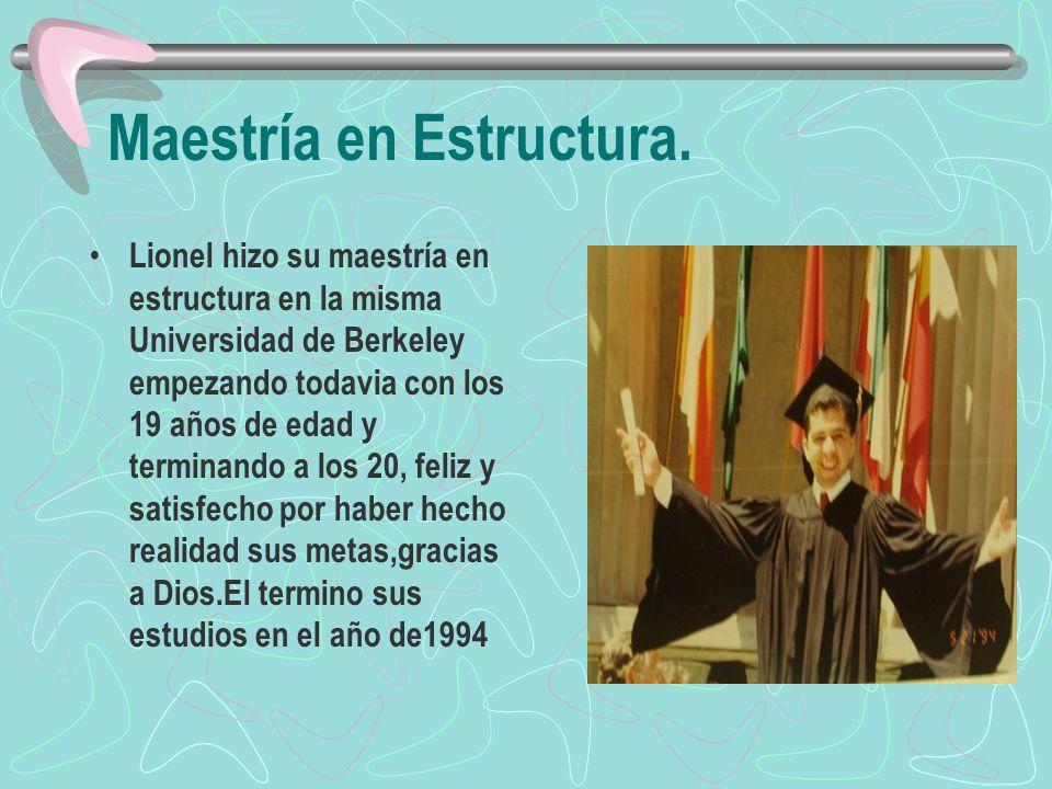 Maestría en Estructura.