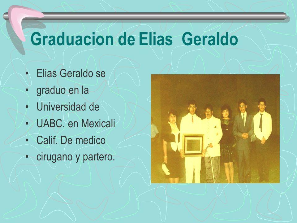 Graduacion de Elias Geraldo