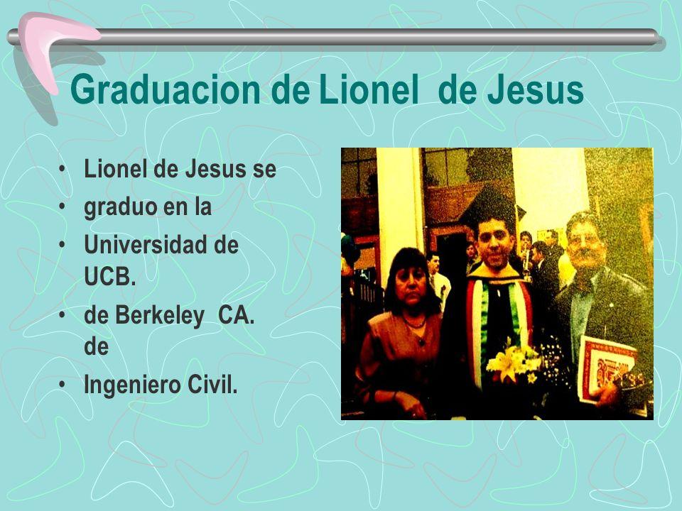 Graduacion de Lionel de Jesus