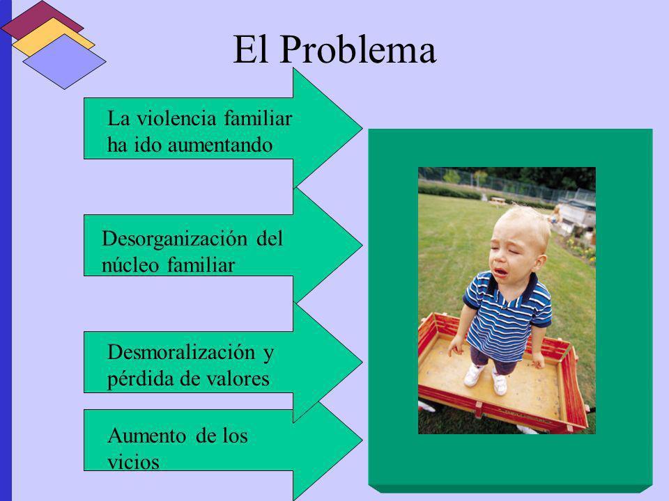 El Problema La violencia familiar ha ido aumentando