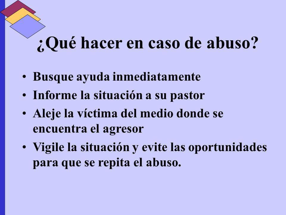 ¿Qué hacer en caso de abuso
