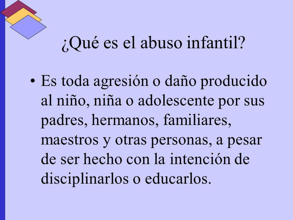 ¿Qué es el abuso infantil
