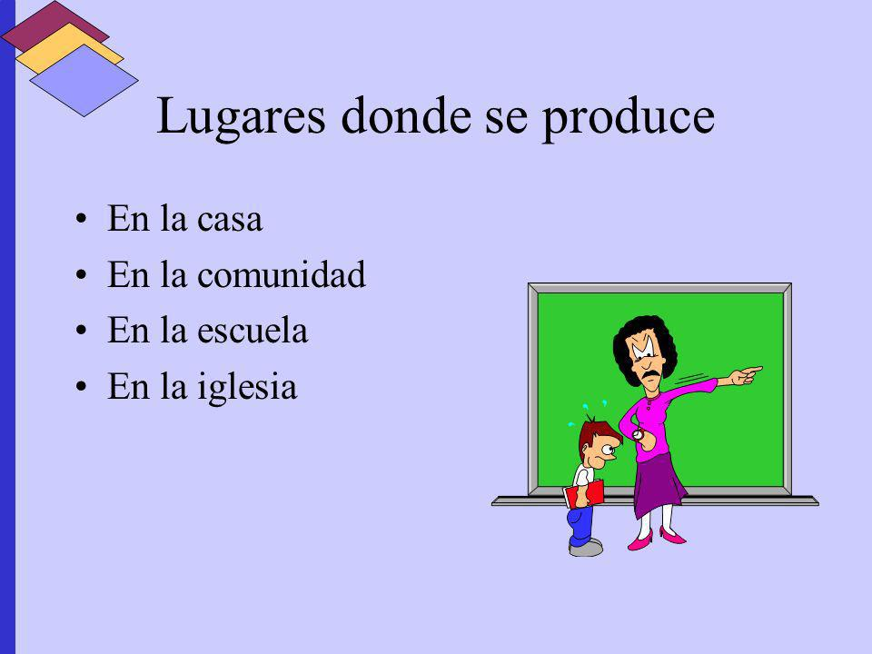 Lugares donde se produce