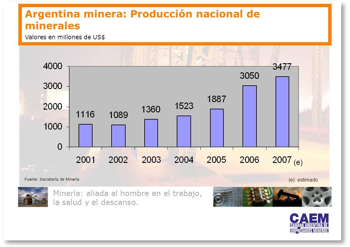Argentina minera: Producción nacional de minerales
