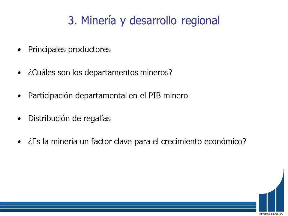 3. Minería y desarrollo regional