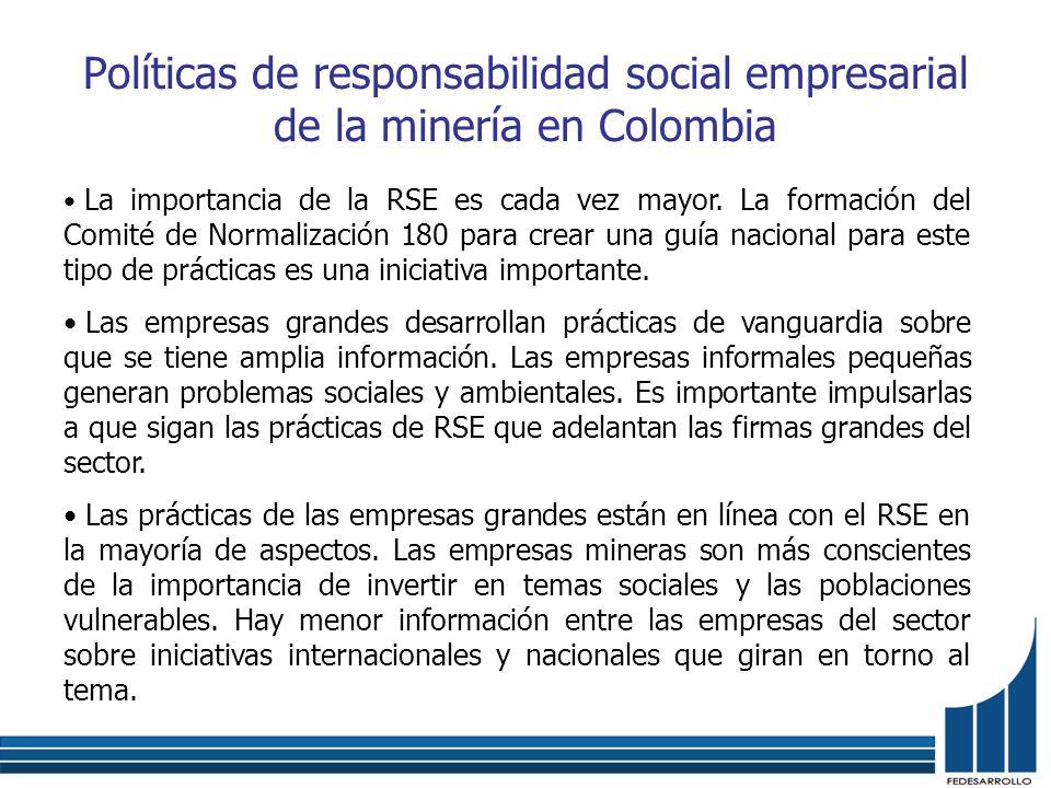 Políticas de responsabilidad social empresarial de la minería en Colombia
