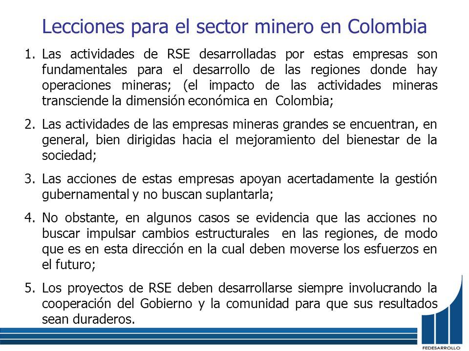 Lecciones para el sector minero en Colombia