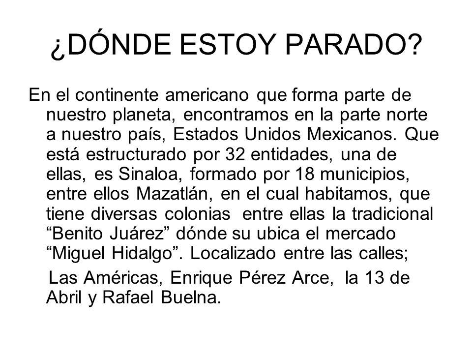 ¿DÓNDE ESTOY PARADO