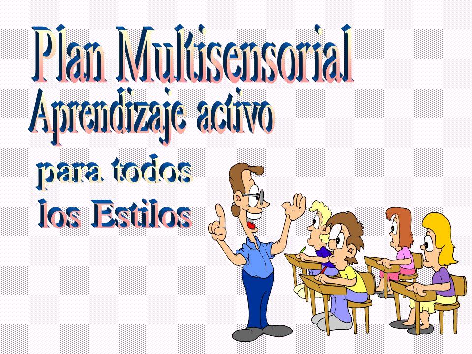 Plan Multisensorial Aprendizaje activo para todos los Estilos