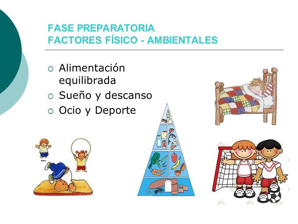 FASE PREPARATORIA FACTORES FÍSICO - AMBIENTALES