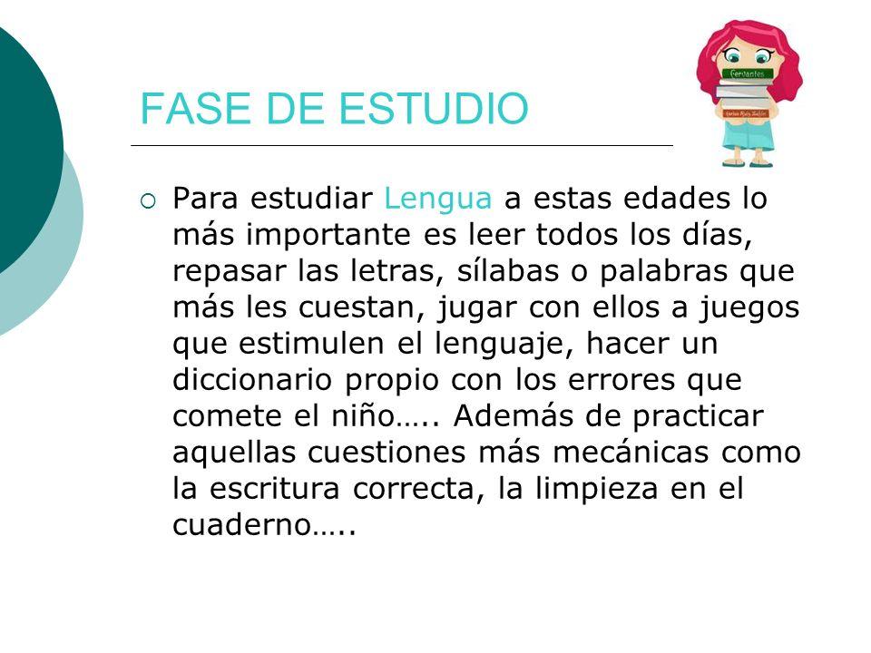 FASE DE ESTUDIO