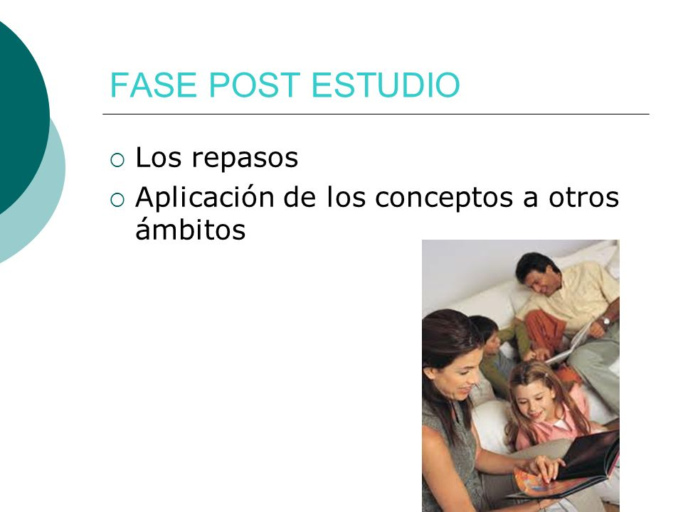 FASE POST ESTUDIO Los repasos