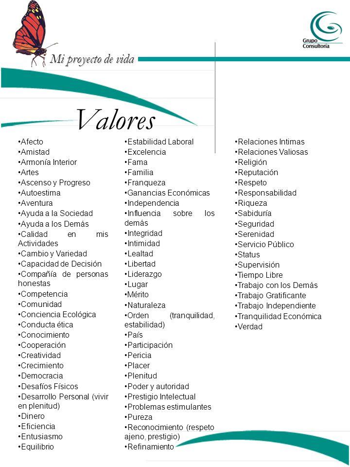 Valores Afecto Amistad Armonía Interior Artes Ascenso y Progreso