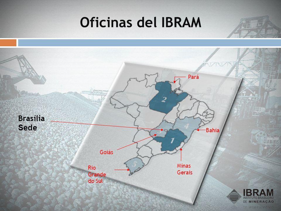 Oficinas del IBRAM Brasília Sede Pará Bahia Goiás Minas Gerais
