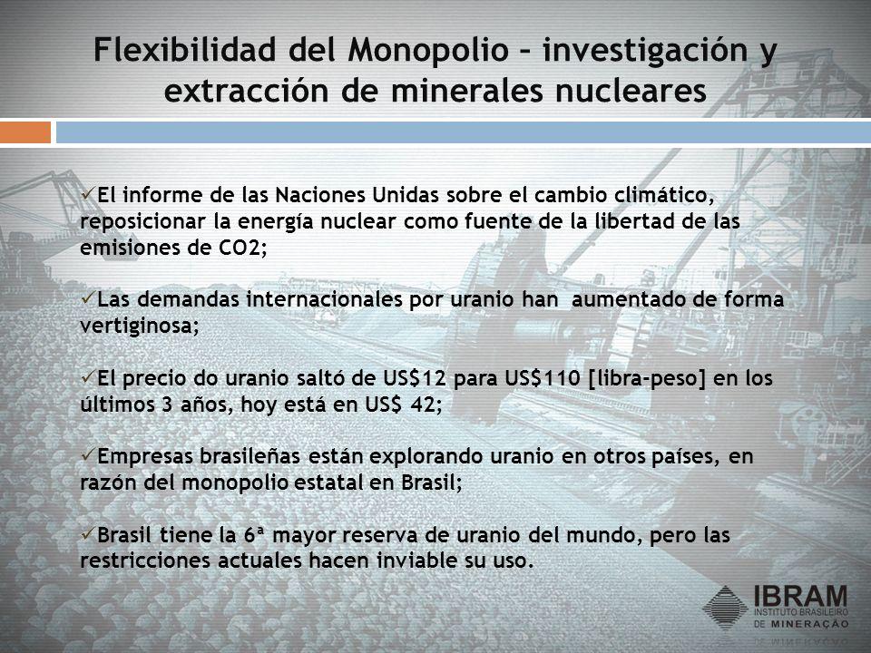 Flexibilidad del Monopolio – investigación y extracción de minerales nucleares