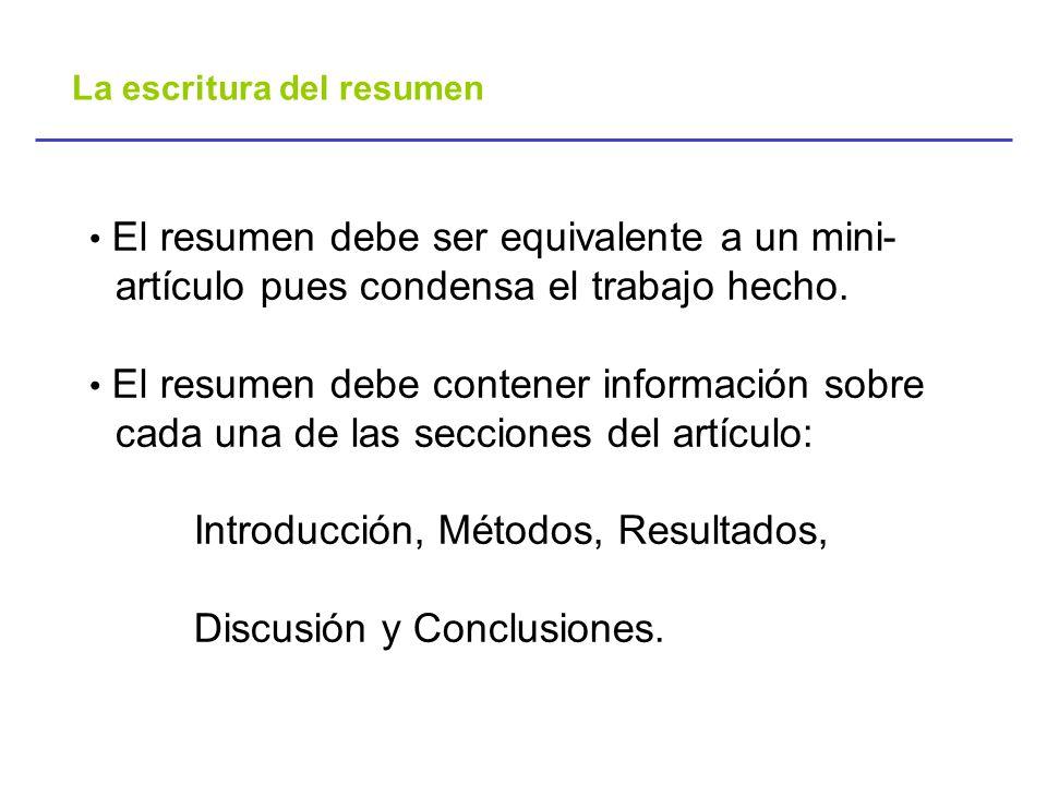Seminario-Taller Como escribir, presentar y publicar resultados ...