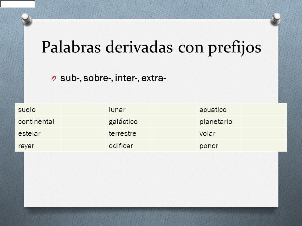 Derivaci n de adjetivos prefijos y sufijos ppt video for Oraciones con la palabra beta