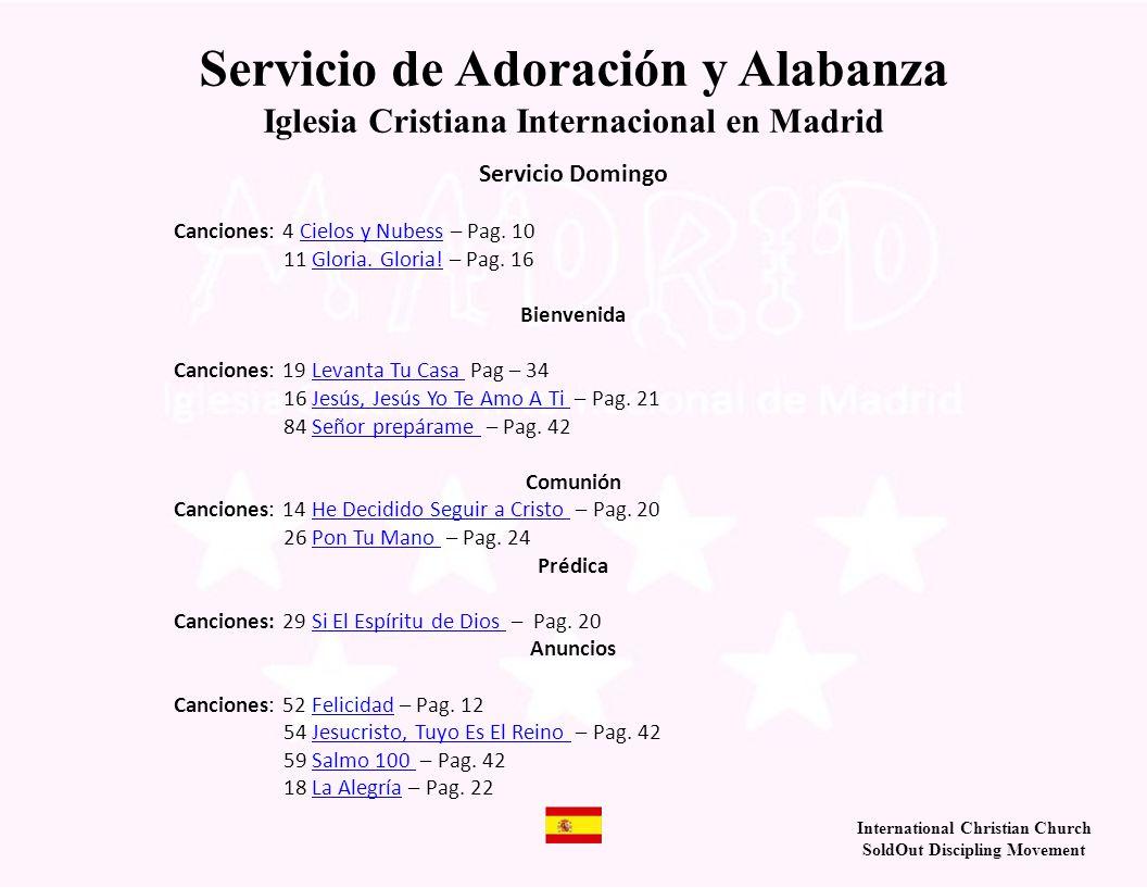 Servicio de Adoración y Alabanza
