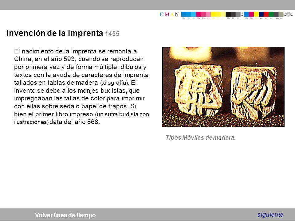 Invención de la Imprenta 1455